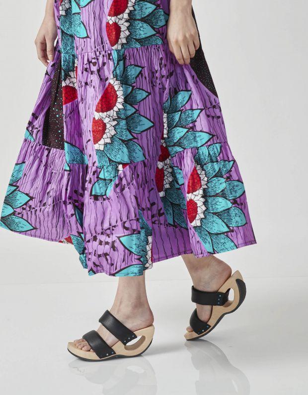 נעלי נשים - Trippen - כפכפי עץ TIRE WOOD - שחור