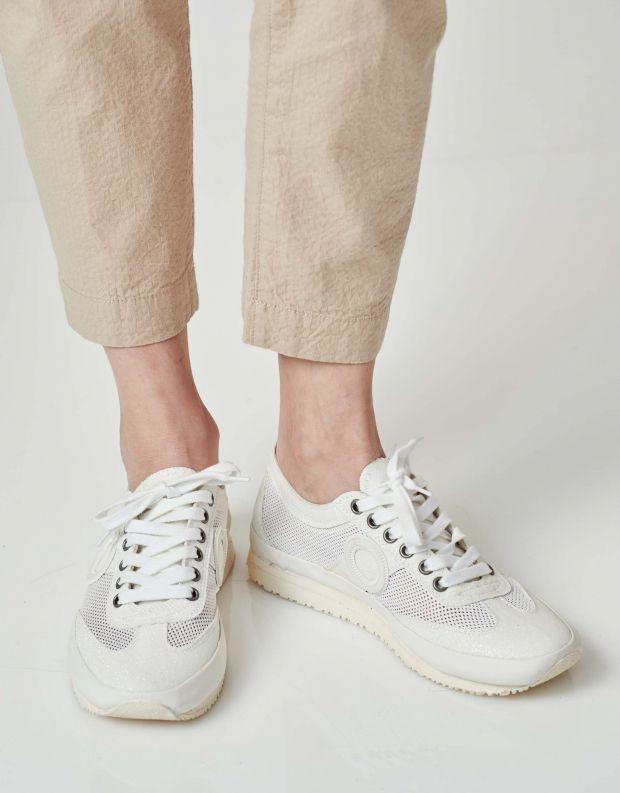 נעלי נשים - Aro - סניקרס JOANETA PLUS GLITT - לבן