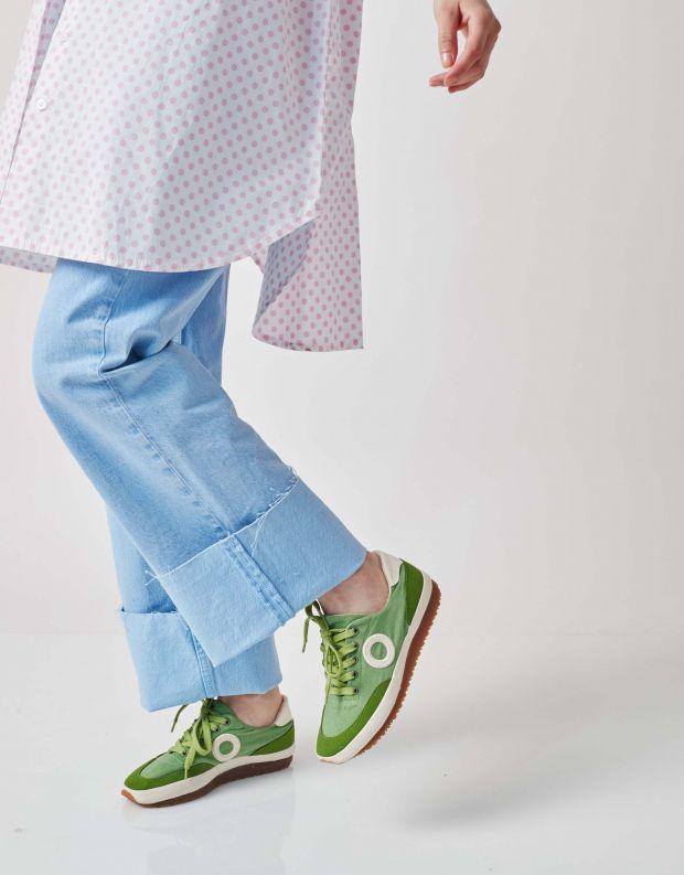 נעלי נשים - Aro - סניקרס בד JAQ - ירוק