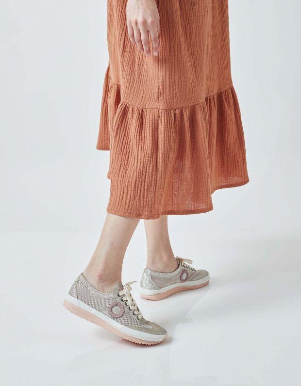 נעלי נשים - Aro - סניקרס JOANETA PLUS GLITT - זהב