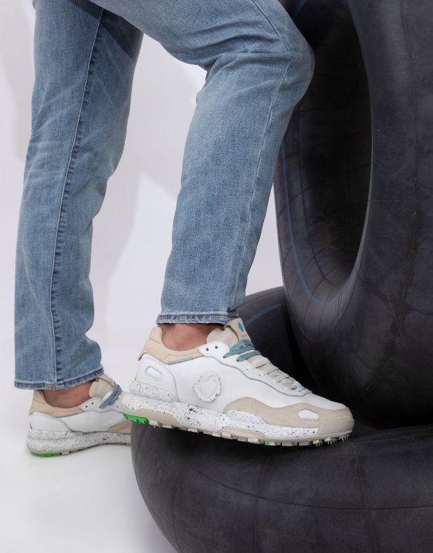 נעלי גברים - Satorisan - סניקרס עור CHACRONA - לבן