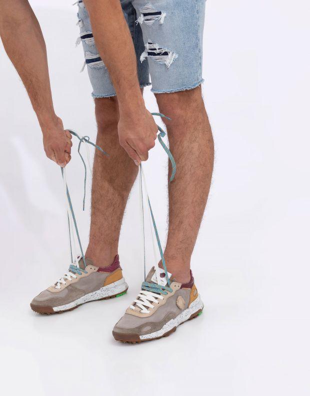 נעלי גברים - Satorisan - סניקרס עור CHACRONA - אפור
