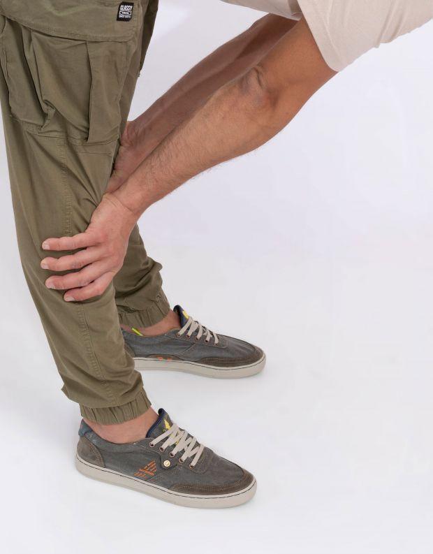 נעלי גברים - Satorisan - סניקרס בד REIWA - חאקי