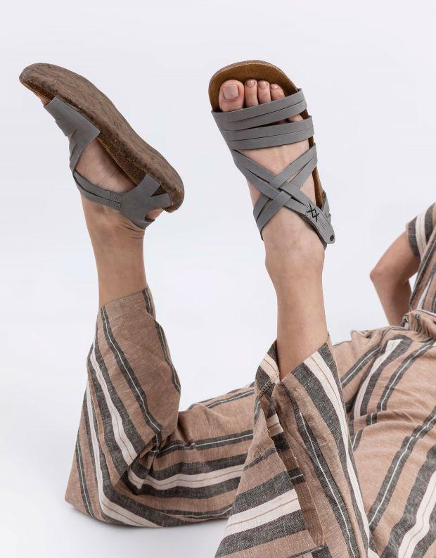נעלי נשים - loints of Holland - סנדלי רצועות FLORIDA - אפור