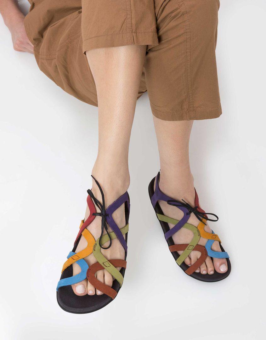 נעלי נשים - loints of Holland - סנדלי רצועות SWING - צבעוני