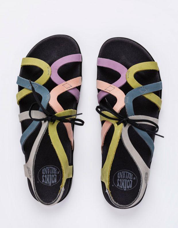 נעלי נשים - loints of Holland - סנדלי רצועות SWING - אפור   כחול