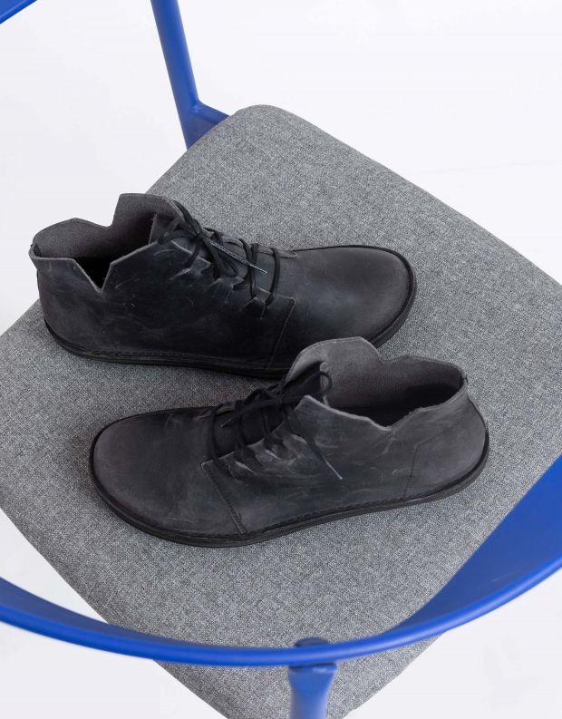 נעלי גברים - loints of Holland - נעלי עור גבוהות TURBO - שחור