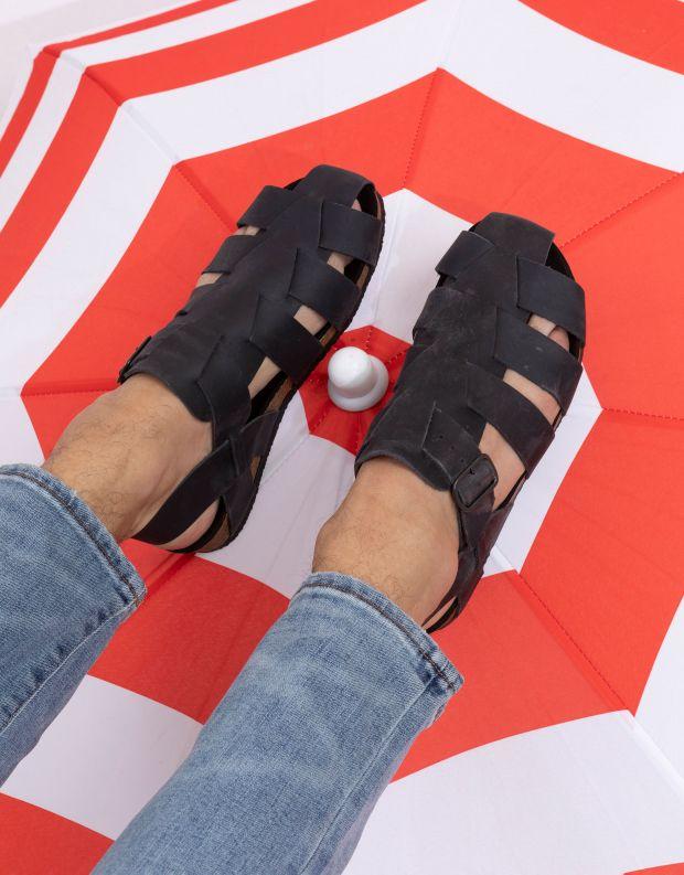 נעלי גברים - loints of Holland - סנדלים NORDPIER - שחור