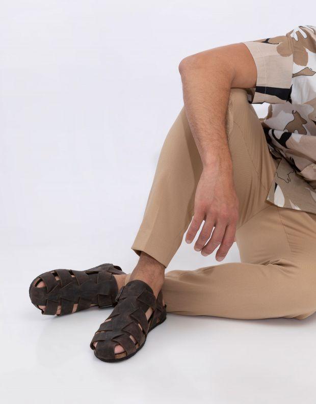 נעלי גברים - loints of Holland - סנדלים NORDPIER - חום