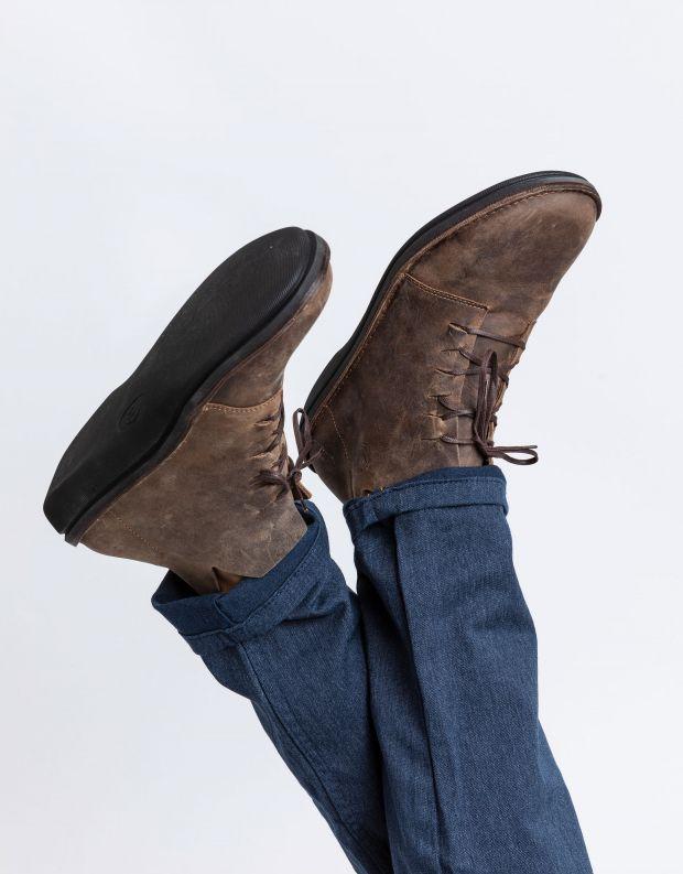 נעלי גברים - loints of Holland - נעלי עור גבוהות TURBO - חום