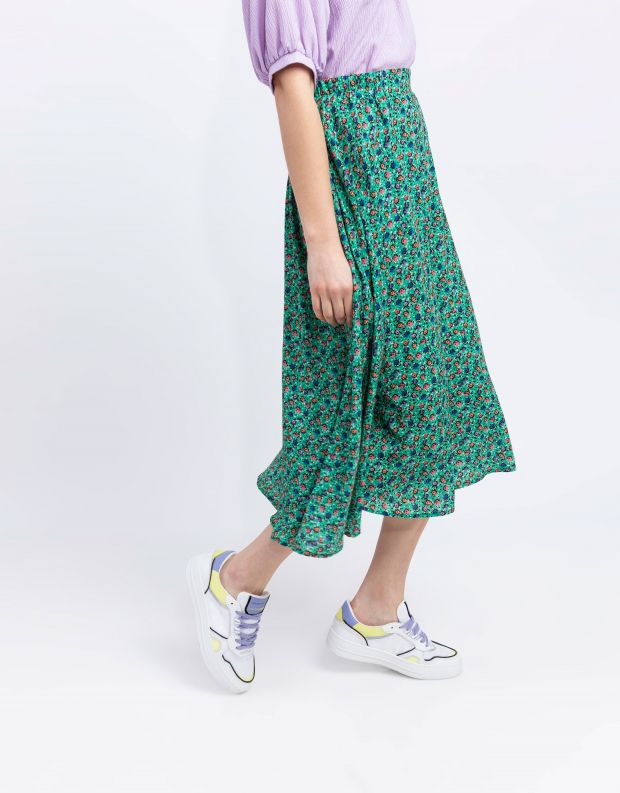 נעלי נשים - Crime London - סניקרס LOW TOP OFF COURT - לבן   סגול