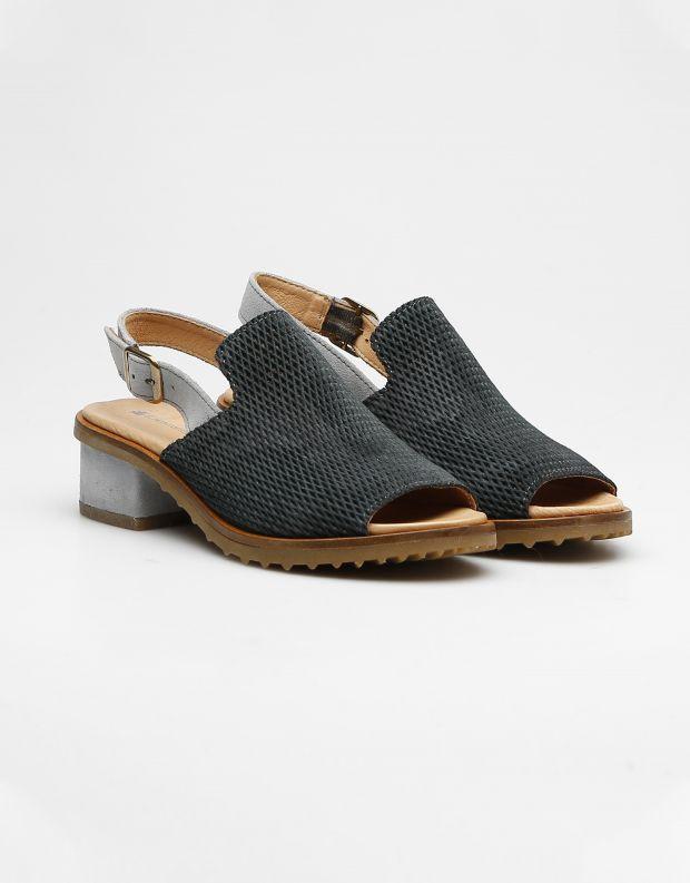 נעלי נשים - El Naturalista - סנדלי עקב SABAL - אפור