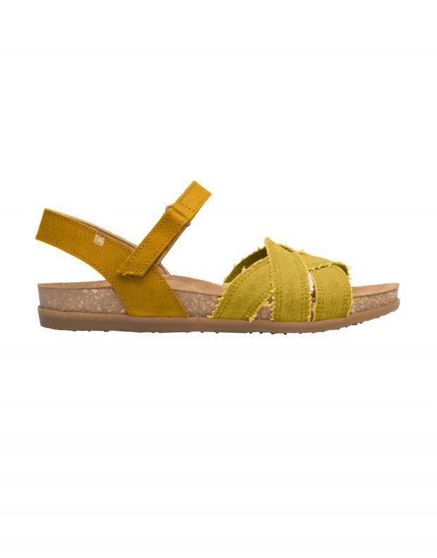 נעלי נשים - El Naturalista - סנדלים טבעוניים ZUMAIA - צהוב
