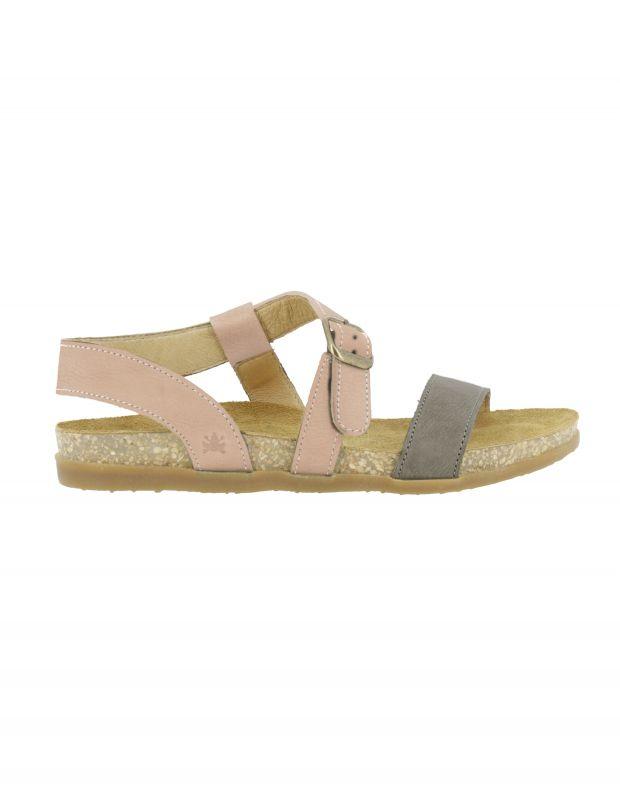 נעלי נשים - El Naturalista - סנדלי רצועות ZUMAIA - אפור   ורוד