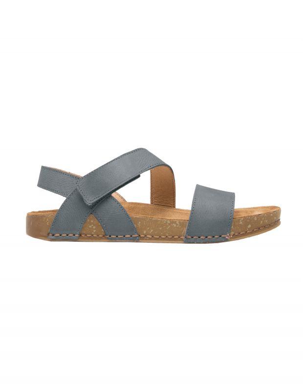 נעלי נשים - El Naturalista - סנדלי עור BALANCE - כחול