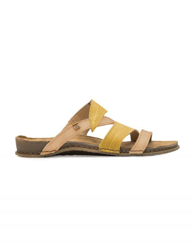 נעלי נשים - El Naturalista - כפכפי רצועות PANGALO - ורוד   צהוב