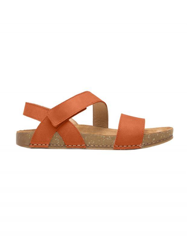 נעלי נשים - El Naturalista - סנדלי עור BALANCE - כתום