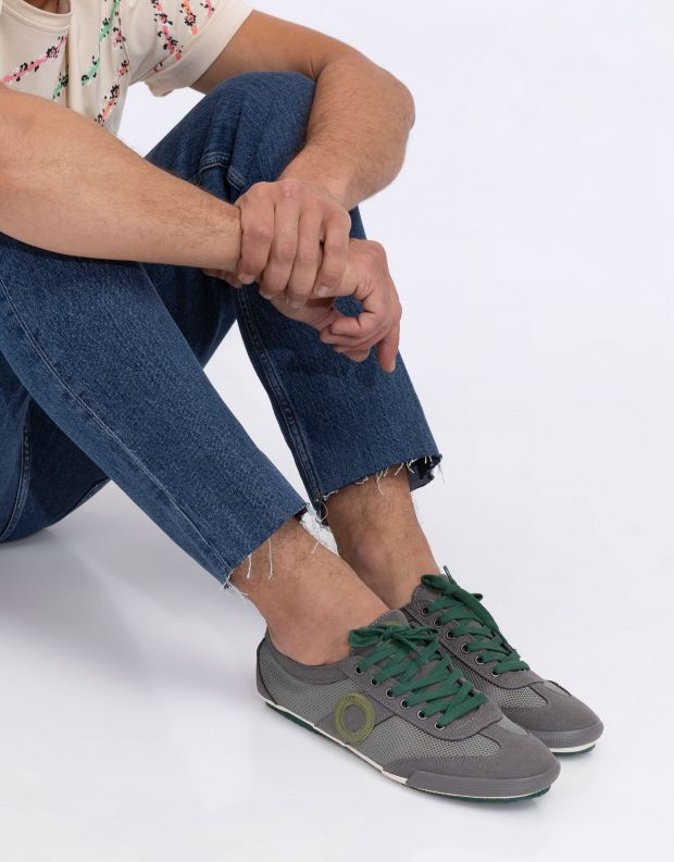 נעלי גברים - Aro - סניקרס JOANETA VEGAN - אפור   ירוק