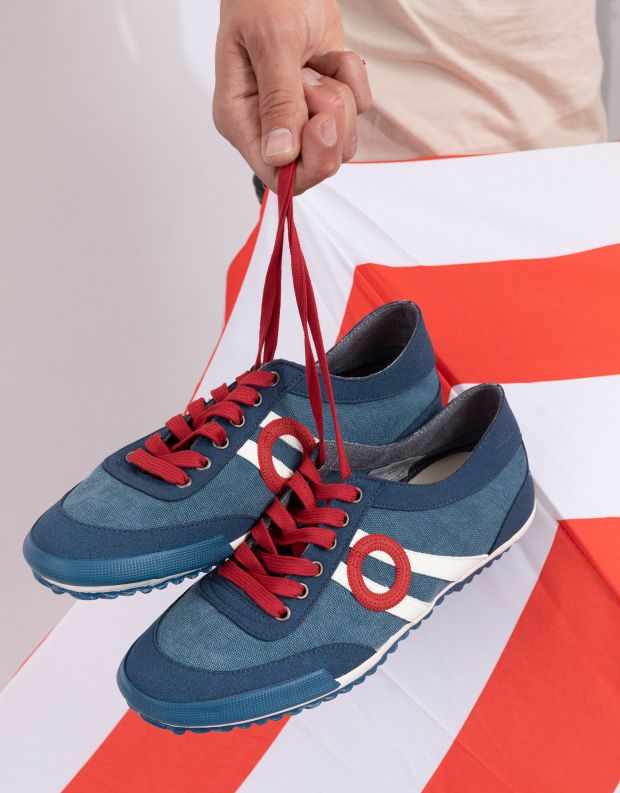 נעלי גברים - Aro - סניקרס בד IDO - כחול
