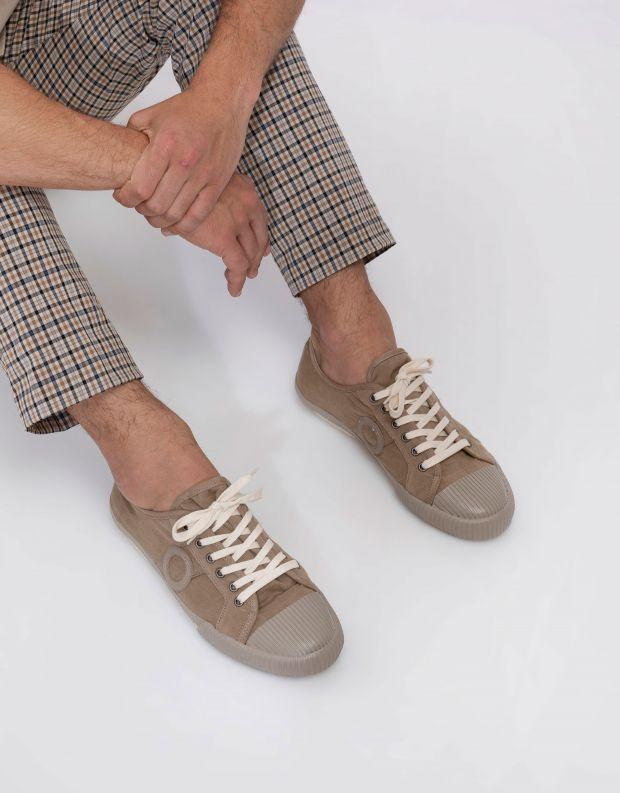 נעלי גברים - Aro - סניקרס בד CHARLIE - חום בהיר