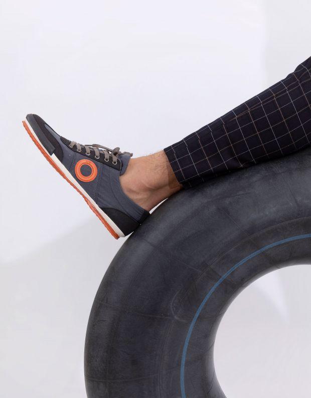 נעלי גברים - Aro - סניקרס בד MAY - אפור כהה