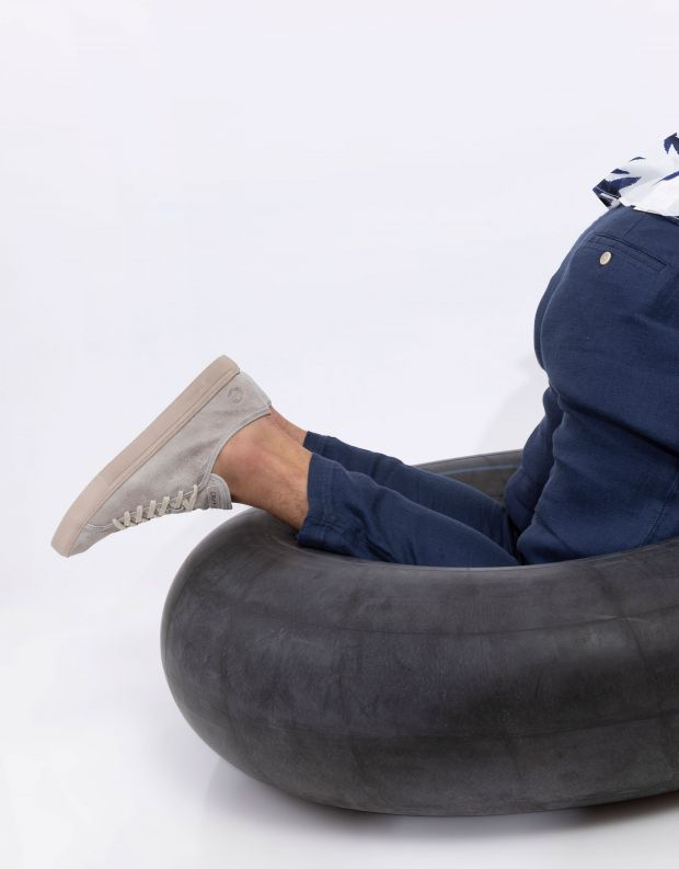 נעלי גברים - Crime London - סניקרס ANGLE CUT ESSENTIA - בז'