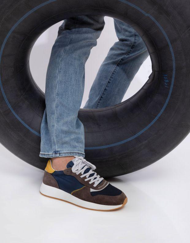 נעלי גברים - Crime London - סניקרס EXTRA LIGHT RUNNER - אפור   כחול