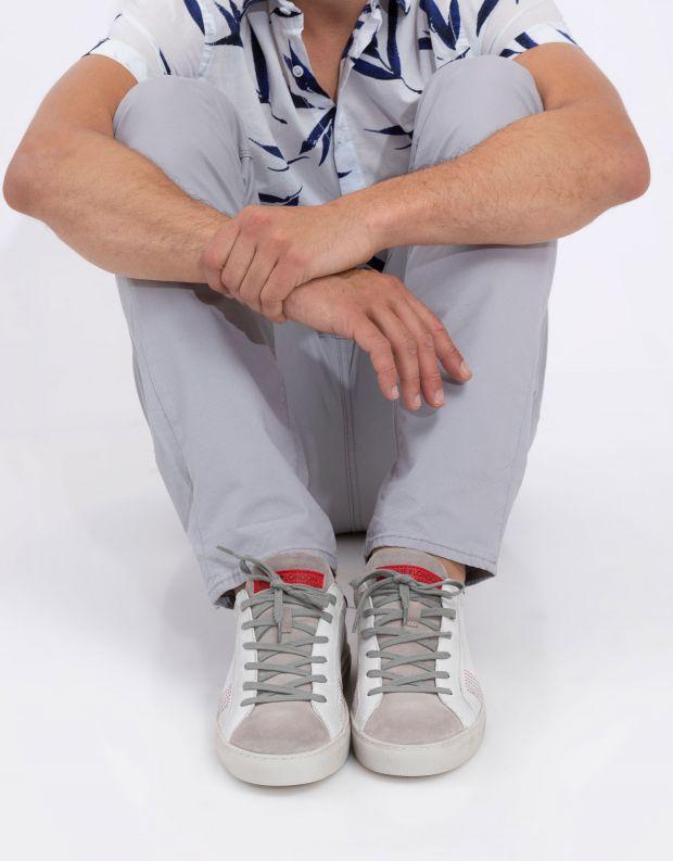 נעלי גברים - Crime London - סניקרס LOW TOP ESSENTIAL - לבן   אפור