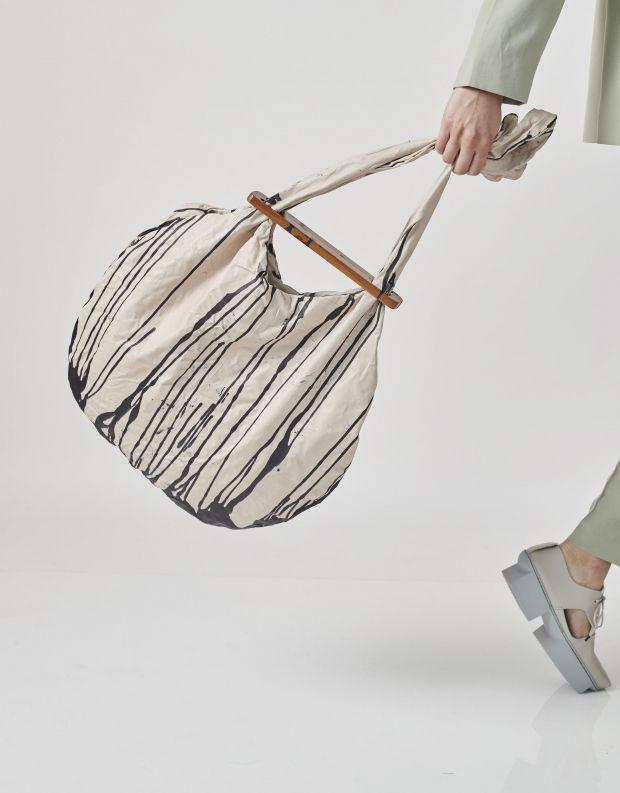 נעלי נשים - Papucei - תיק עור GRIONA - לבן   שחור