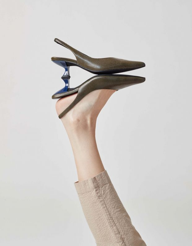 נעלי נשים - Jeffrey Campbell - סירה AMULET - חאקי