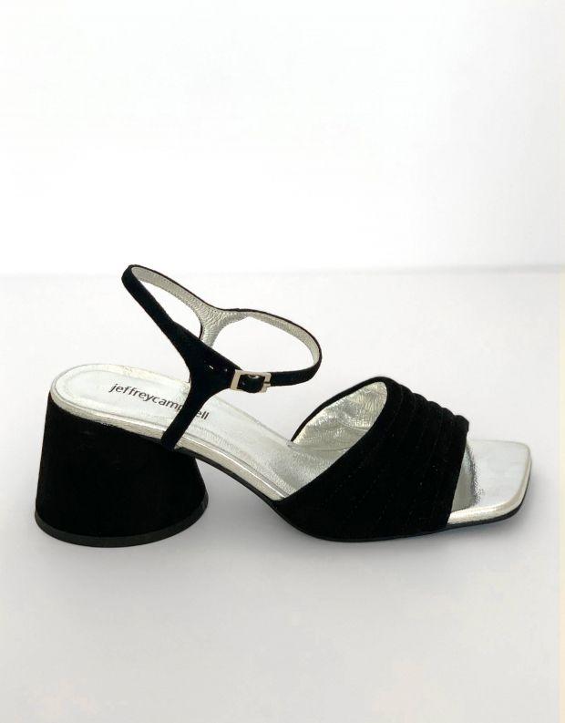 נעלי נשים - Jeffrey Campbell - סנדלי זמש עם עקב VERRA - שחור