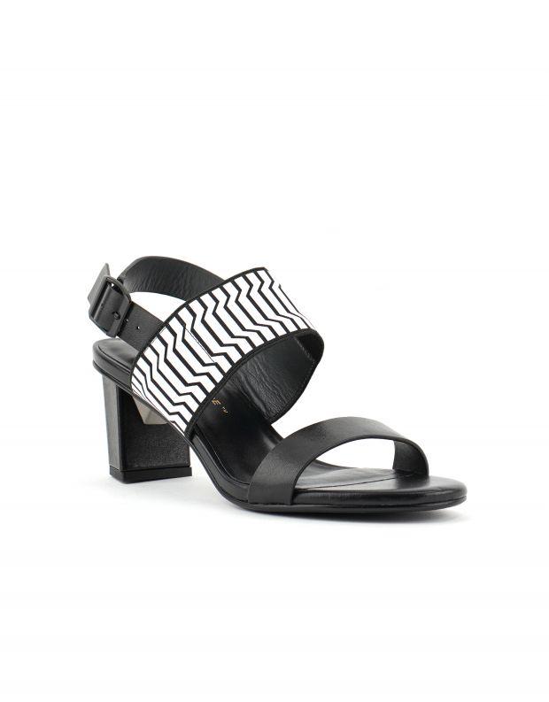 נעלי נשים - United Nude - סנדלי POP MID - שחור לבן