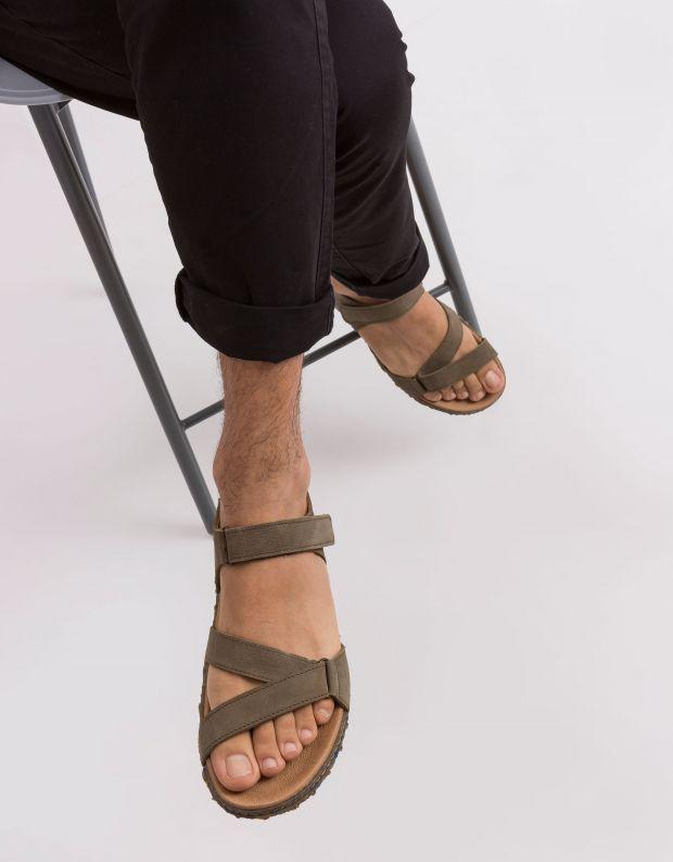 נעלי גברים - El Naturalista - סנדל REDES - חאקי