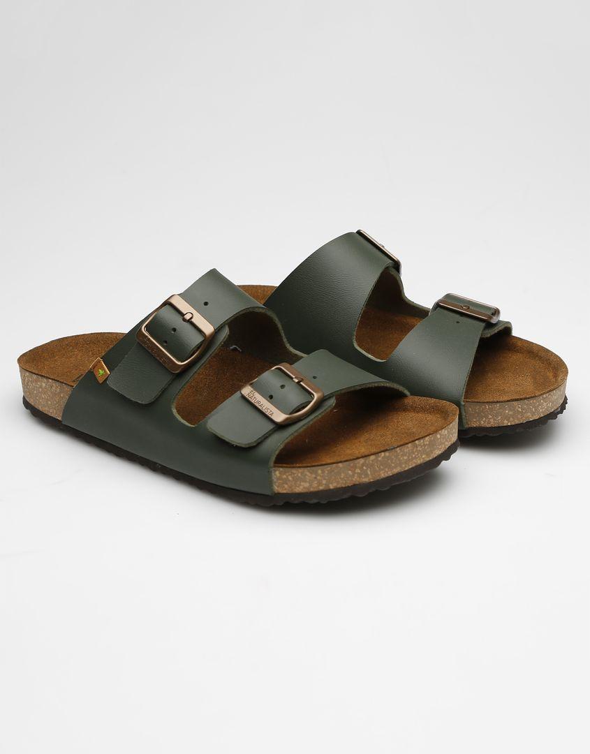 נעלי גברים - El Naturalista - כפכפי WARAJI VEGAN - ירוק