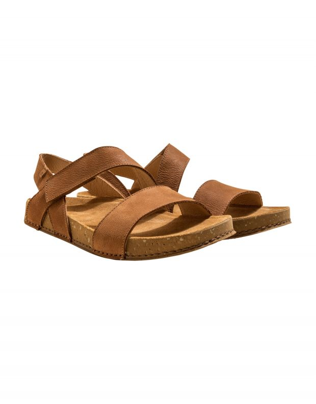 נעלי גברים - El Naturalista - סנדלי עור BALANCE - חום