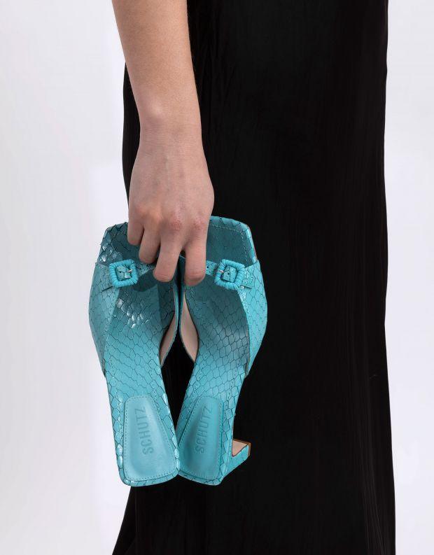 נעלי נשים - Schutz - כפכפי עקב עם אבזם CHLOE - תכלת