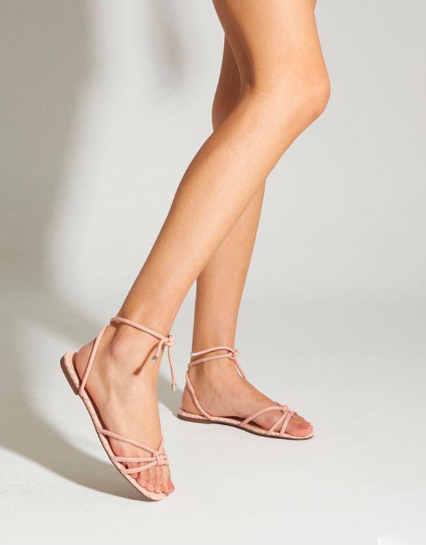 נעלי נשים - Schutz - סנדלי רצועות שטוחים CORA - ורוד