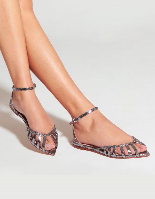 נעלי נשים - Schutz - סנדלים שטוחים ELIA - כסף