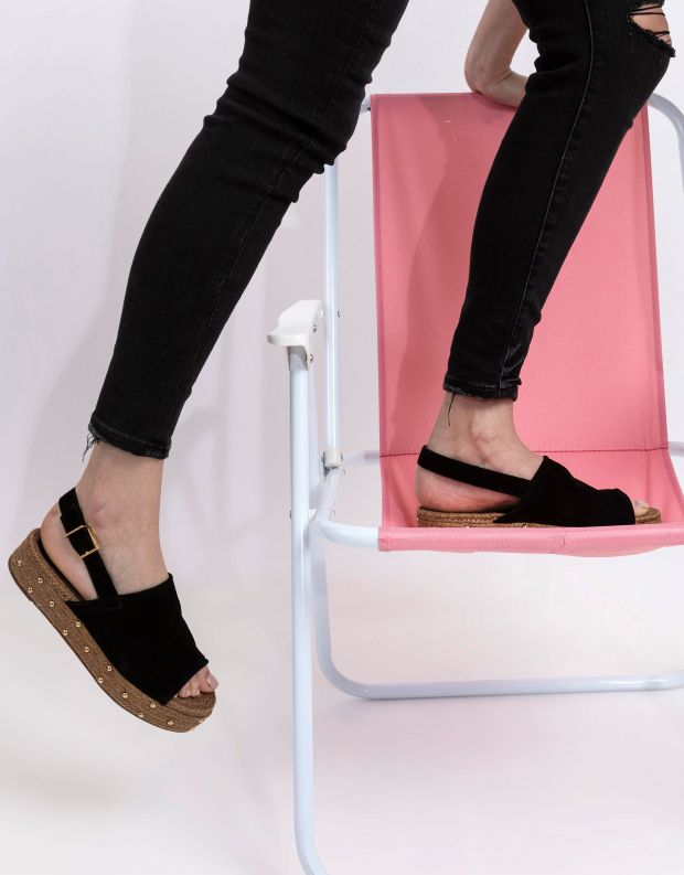 נעלי נשים - Schutz - סנדלי פלטפורמה חבלים IVY - שחור