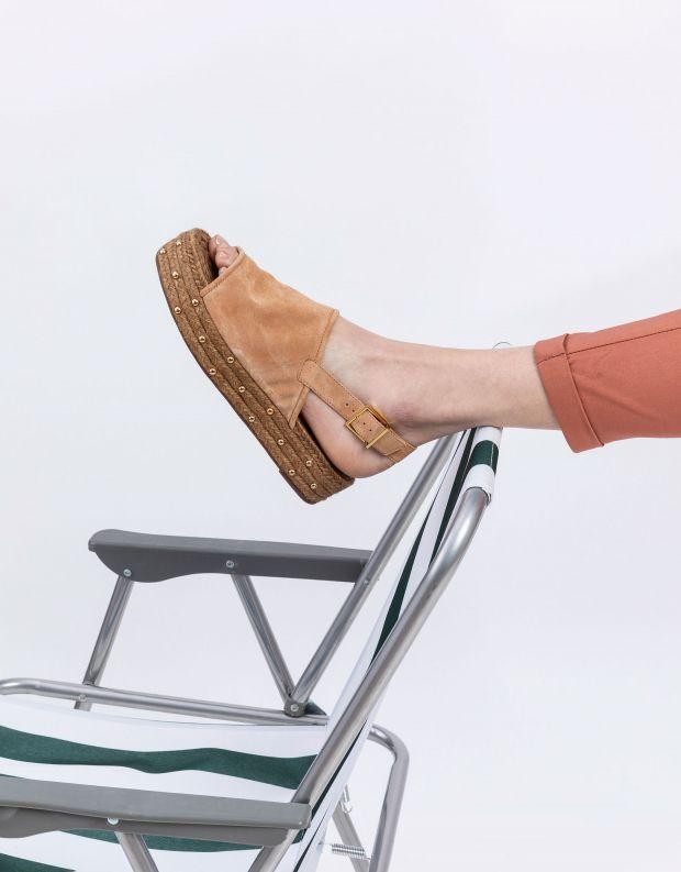 נעלי נשים - Schutz - סנדלי פלטפורמה חבלים IVY - בז'