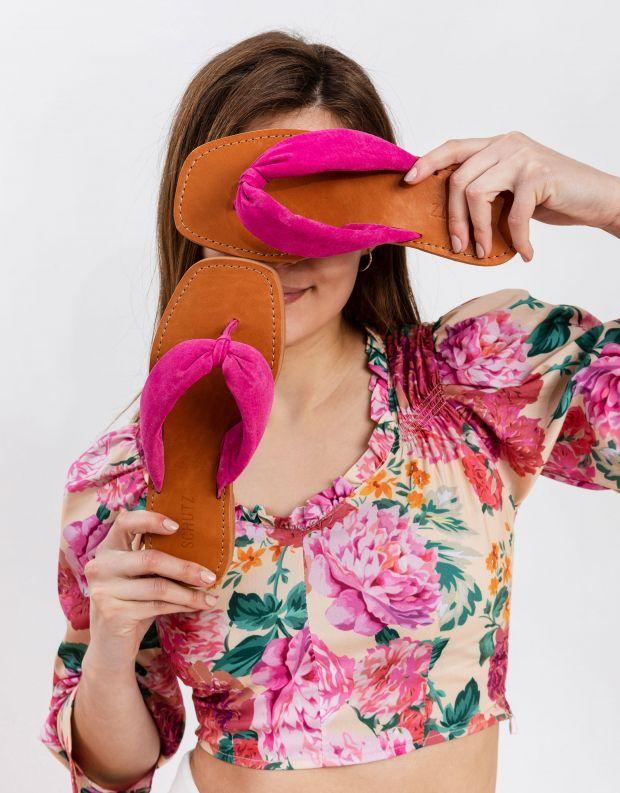 נעלי נשים - Schutz - כפכפי אצבע DOREAH - פוקסיה