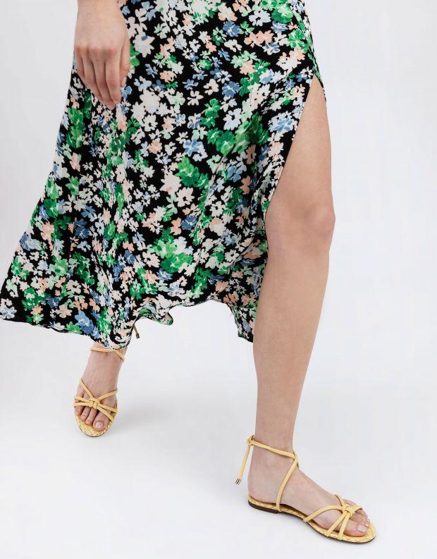 נעלי נשים - Schutz - סנדלי רצועות שטוחים CORA - צהוב
