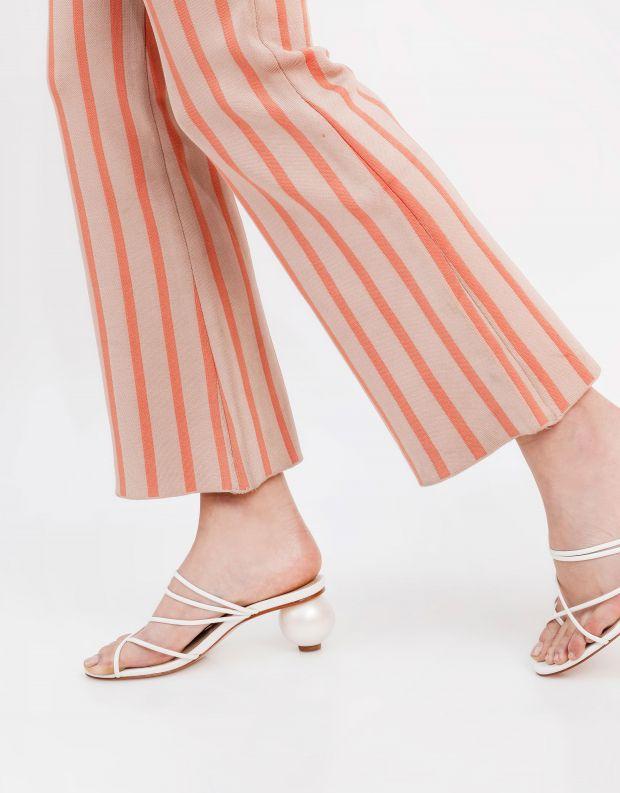 נעלי נשים - Schutz - כפכפי עקב עם רצועות KATIA - לבן