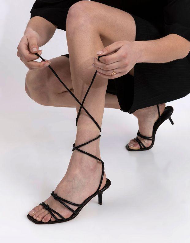 נעלי נשים - Schutz - סנדלי עקב LILLIENNE - שחור