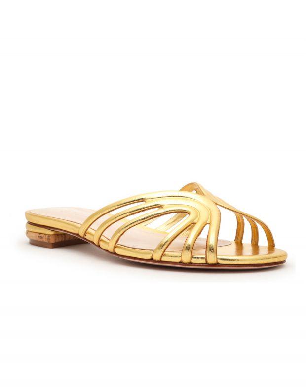 נעלי נשים - Schutz - כפכפים מטאליים PIPER - זהב