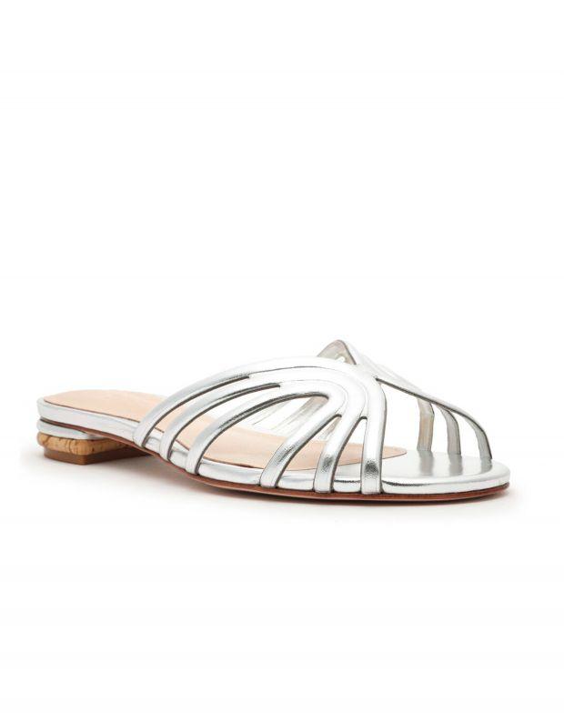 נעלי נשים - Schutz - כפכפים מטאליים PIPER - כסף