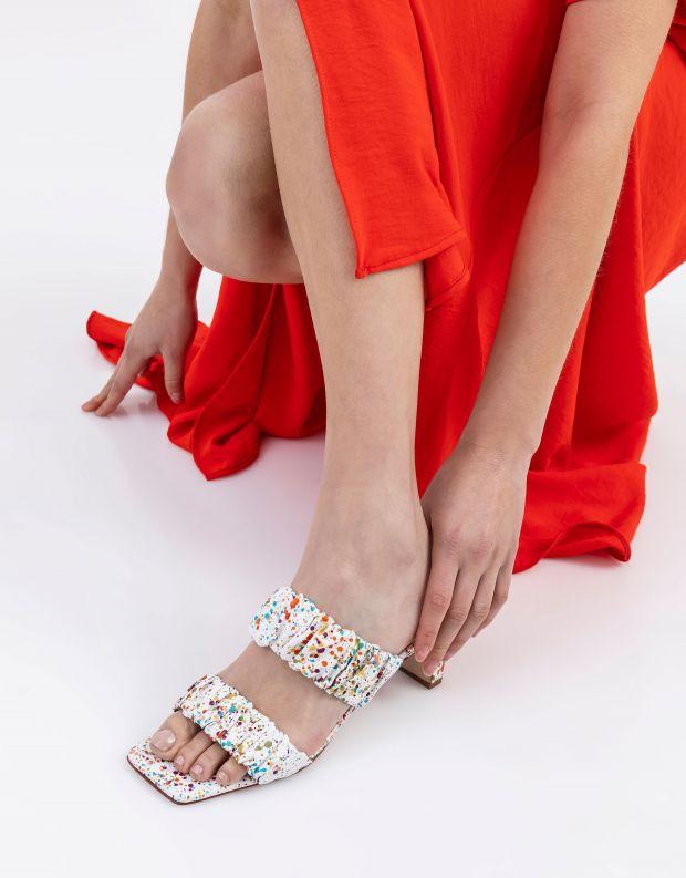 נעלי נשים - Schutz - כפכפי שתי רצועות MELANIE - לבן
