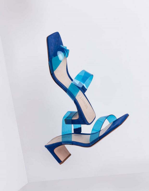 נעלי נשים - Schutz - כפכפי TAINA רצועות שקופות - טורקיז