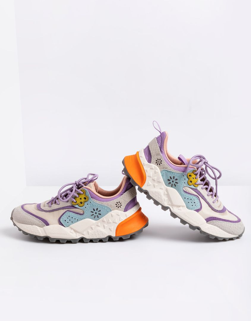 נעלי נשים - Flower Mountain - סניקרס KOTETSU - לבן-סגול