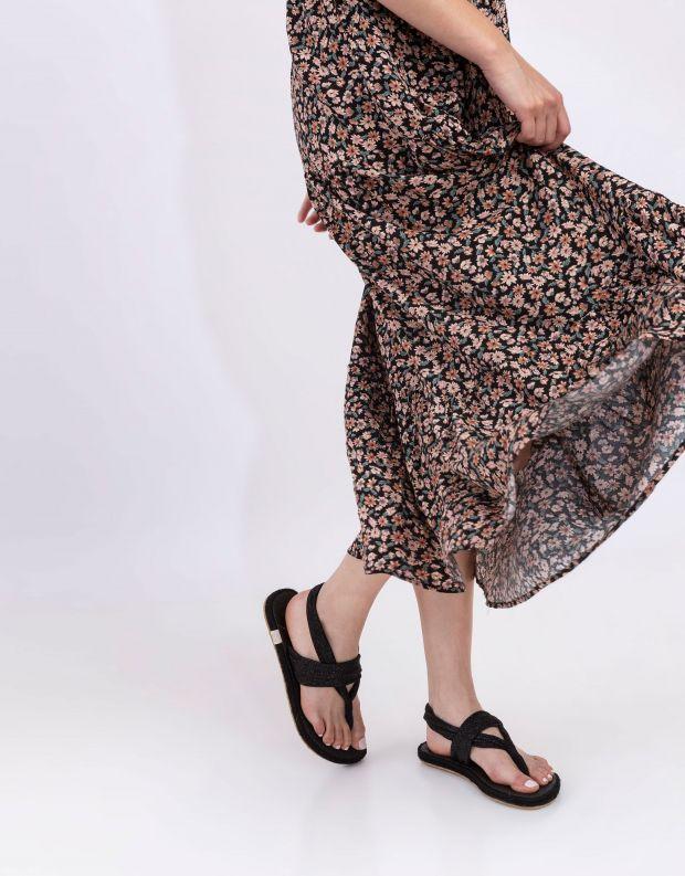 נעלי נשים - Nalho - סנדל GANIKA GLITTER - שחור